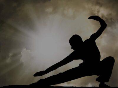 person practicing martial arts